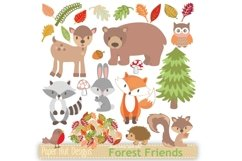 Woodland Animals Clipart Product Image 1