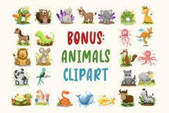 Alphabet Animals Clipart -- 26 Images Product Image 2