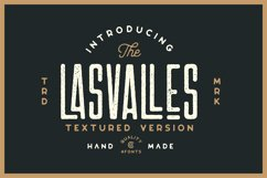 Las Valles Ultra Textured Condensed Typeface 4 Fonts Product Image 2