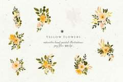Yellow Watercolor Flowers Product Image 5