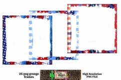 Patriotic July 4th Grunge Frames for Dye Sublimation Product Image 5