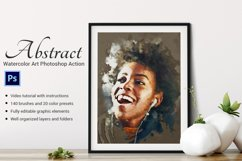 Abstract-Watercolor Art Photoshop Action Product Image 1