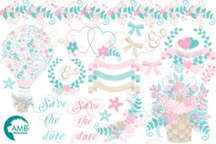 Shabby Chic Wedding Floral Hotair Balloon cliparts AMB-1276 Product Image 4