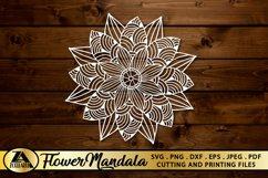 Flower Mandala SVG PNG EPS DXF Floral Mandala SVG Cut file Product Image 2