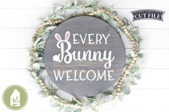 Front Door Easter Sign SVG, Every Bunny Welcome SVG Product Image 1