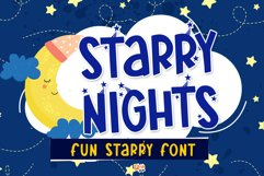 Starry Nights - Fun-Starry Font! Product Image 1