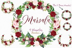 Watercolor Marsala and Blush Bundle for Weddings Product Image 4