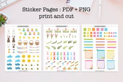 Printable easter sticker sheets for planner PDF and PNG Product Image 2