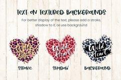 Sublimation Background Bundle, Leopard Skin Distressed Heart Product Image 4