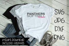 Panthers Softball Mama, A Softball SVG Product Image 1
