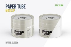 Closed Paper Tube Mockup 99x70mm Product Image 1