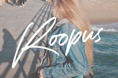 Roopus Signature Font Product Image 1