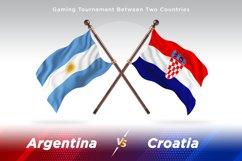 Argentina vs Croatia Two Flags Product Image 1