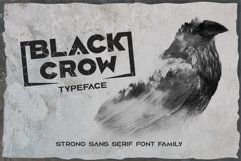 Black crow. Strong sans-serif family Product Image 1