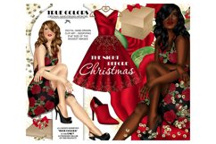 Christmas Clip art Afro American Clipart Christmas Clipart Product Image 1