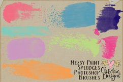 Messy Watercolor Paint Splodge Photoshop Brushes Product Image 4