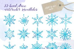 Watercolor snowflakes Product Image 2