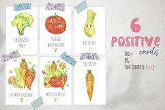 Cute vegetables clipart. Digital paper set Product Image 4