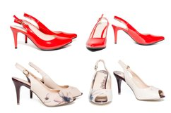 Women's shoes on white background Product Image 1
