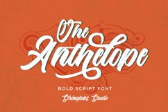 The Anthelope - Retro Bold Script Font Product Image 1