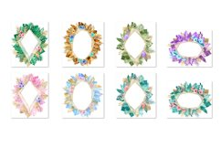 Tropical Gold Polygonal Frames Clipart Product Image 3