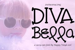 Diva Bella - A Cute and Sweet Hand Drawn Font Product Image 1