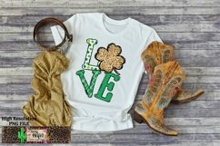 LOVE St Patrick's Day Dye Sublimation PNG Design Product Image 6