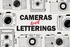 Set of cameras with letterings. Product Image 1