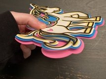 3D Layered SVG for Kids Crafts Unicorn Product Image 2