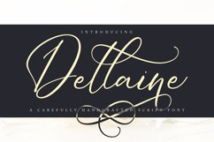 Dellaine   A Carefully Handcrafted Script Font Product Image 1