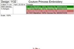 Single Rose Machine Embroidery Design Set of 4 Sizes Product Image 5