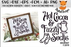 Hot Cocoa And Fuzzy Socks Christmas Winter SVG Product Image 1