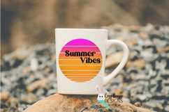 Sublimation Summer Sunset Background Bundle - Retro - 6 PNGs Product Image 4