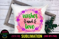 Wishes and Love- Christmas Sublimation Design Ideas Product Image 1