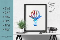 Kids Hot Air Balloons - SVG DXF PNG EPS JPG PDF Cutting File Product Image 2