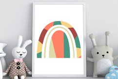 Abstract geometric rainbow in the style of boho Product Image 3