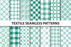 Green Textile Seamless Patterns. Product Image 1