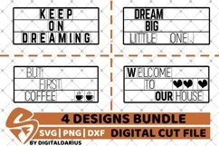 4x Dream Quote Designs Bundle svg, Home Decor svg, Coffee Product Image 1