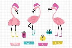 Christmas flamingos set Product Image 1