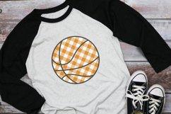 Basketball Mom - Buffalo Plaid Basketball SVG Product Image 1