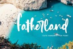 Web Font Fatherland - Cute Handwritten Font Product Image 1