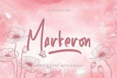 Web Font Markeron - Marker Font with Swash Product Image 1
