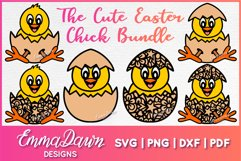 THE CUTE EASTER CHICK SVG BUNDLE 6 MANDALA ZENTANGLE DESIGN Product Image 1