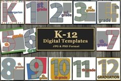 K Through 12 Number Templates for School and More Product Image 1