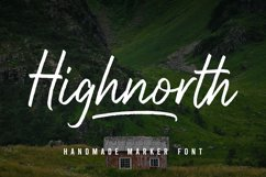 Highnorth - Handmade Marker Font Product Image 1