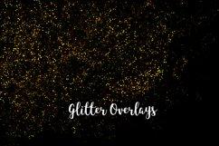 Yellow Glitter Overlays, Gold Glitter Bokeh Overlays Product Image 2