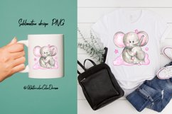 Mom and baby elephant sublimation Product Image 3