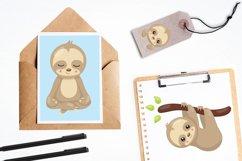 Sleepy sloth graphics and illustrations Product Image 4