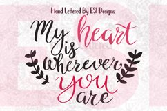 My Heart is Wherever You Are Quote. Product Image 1