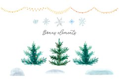 Winter Town. Watercolor Collection. Merry Christmas Product Image 4